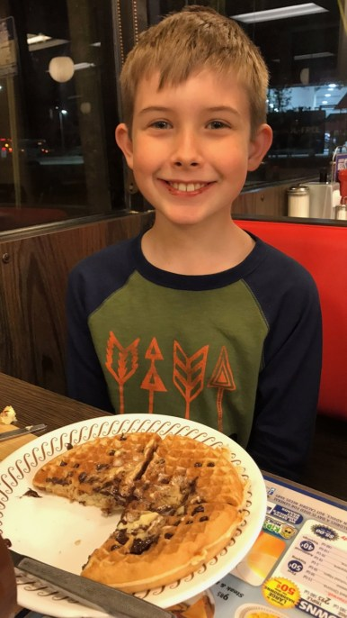 Chocolate Chip Waffle House Waffles