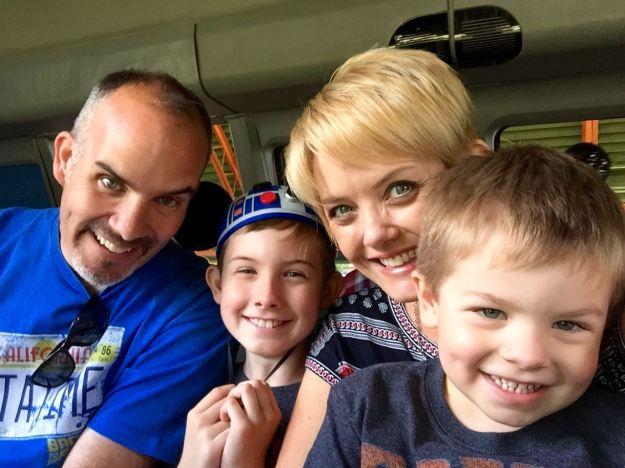 Disneyland Monorail Selfie