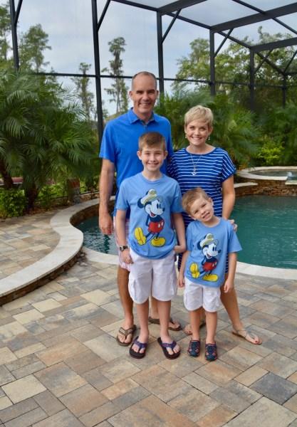 Family Shot Before Disney Fantasy Sailaway