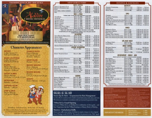 Navigator Day 2 - Disney Fantasy 10 Night Southern Caribbean