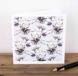 Aquilegia greetings card