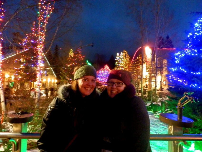 Celebrating a white Christmas in Whistler, Canada