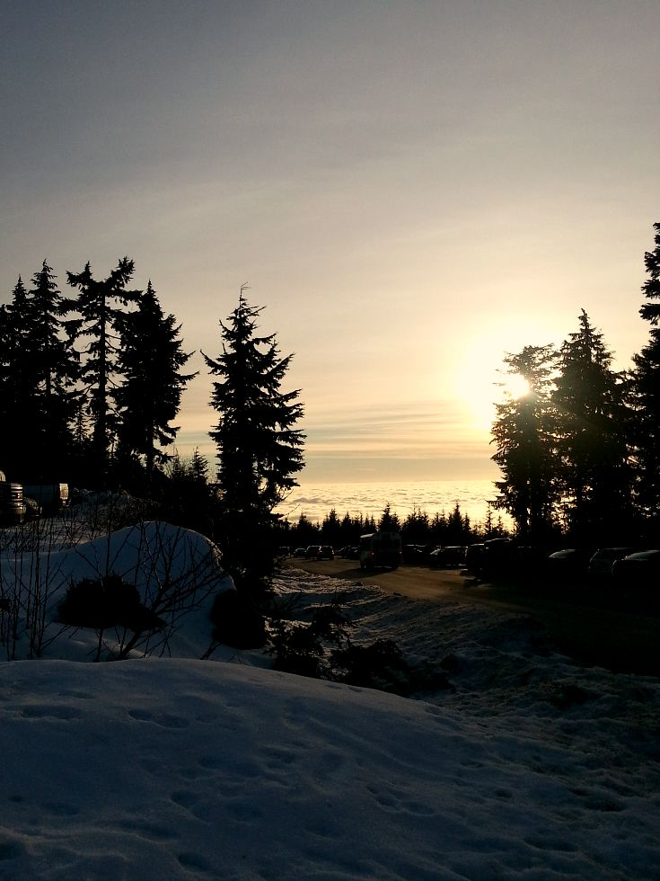 Tubing on Mount Seymour near Vancouver, Canada