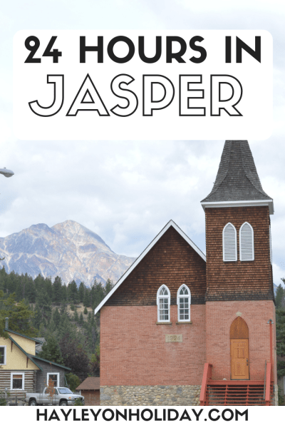 How to spend 24 hours in Jasper and Jasper National Park in the Canadian Rockies.
