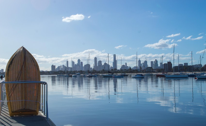 Check out the Melbourne skyline from St Kilda Pier