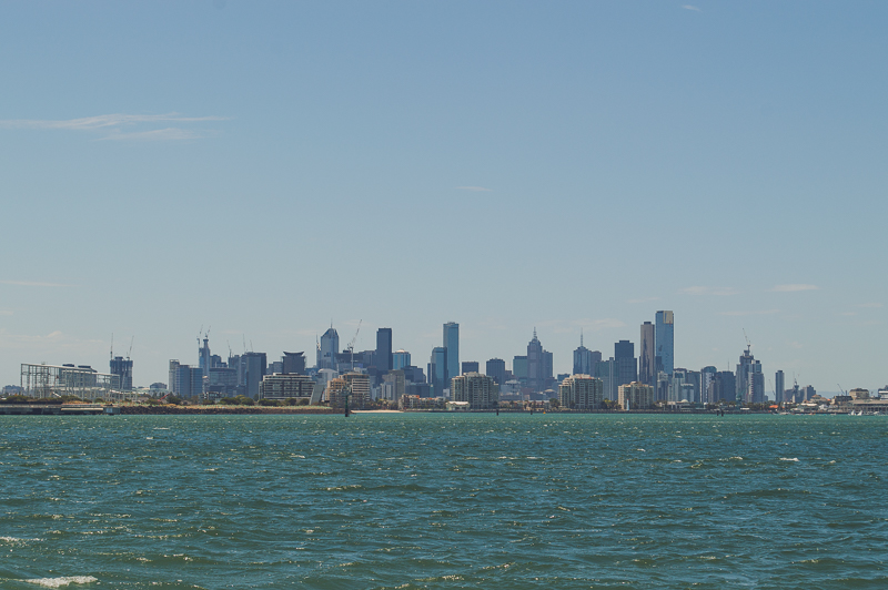 Melbourne Skyline from Williamstown Ferry