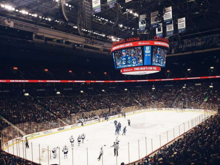 Things to do in Vancouver at night: head to a Canucks game.