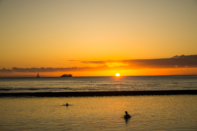 Sunsets in Oahu, Hawaii