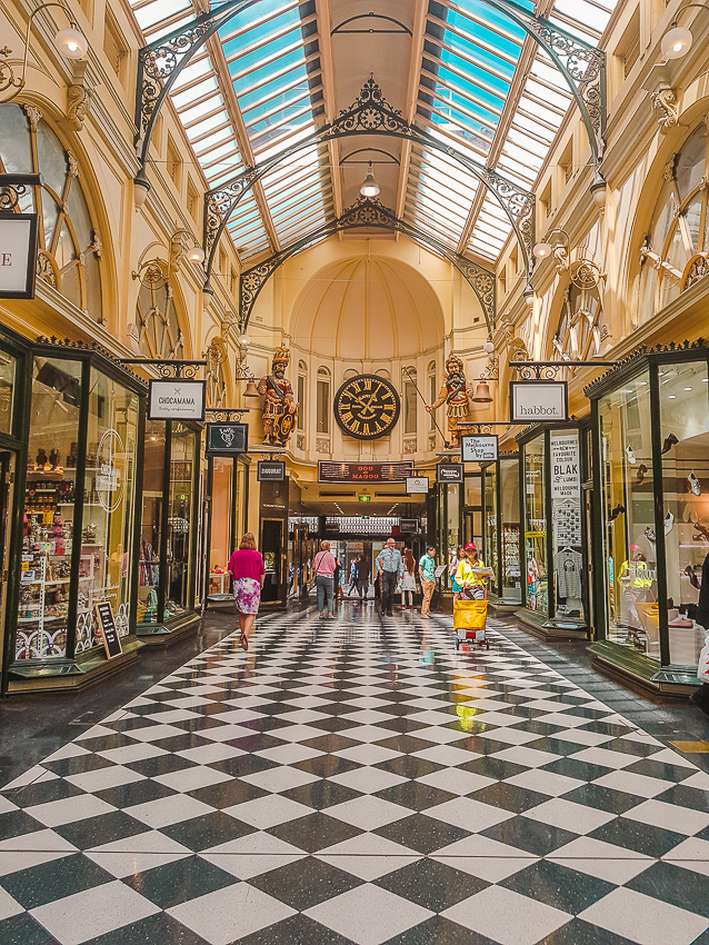 Free things to do in Melbourne: visit Block Arcade