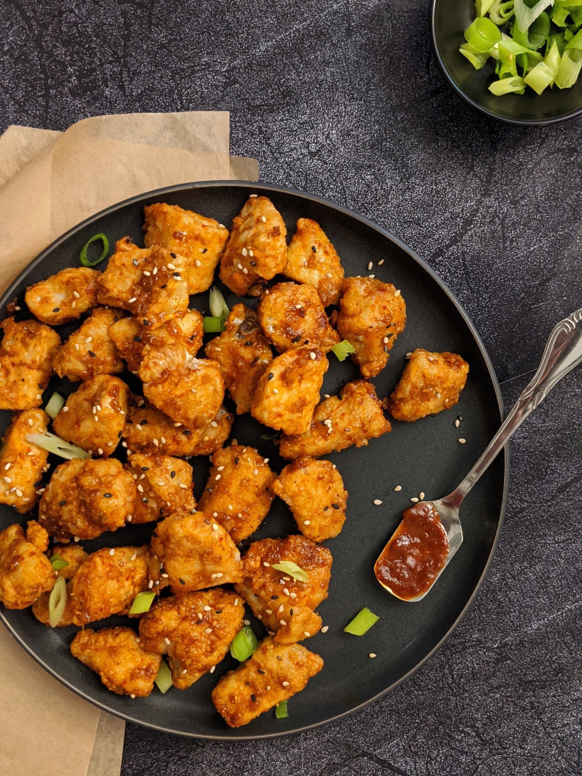 Sweet N Spicy Air Fryer Korean Fried Chicken Hayl S Kitchen