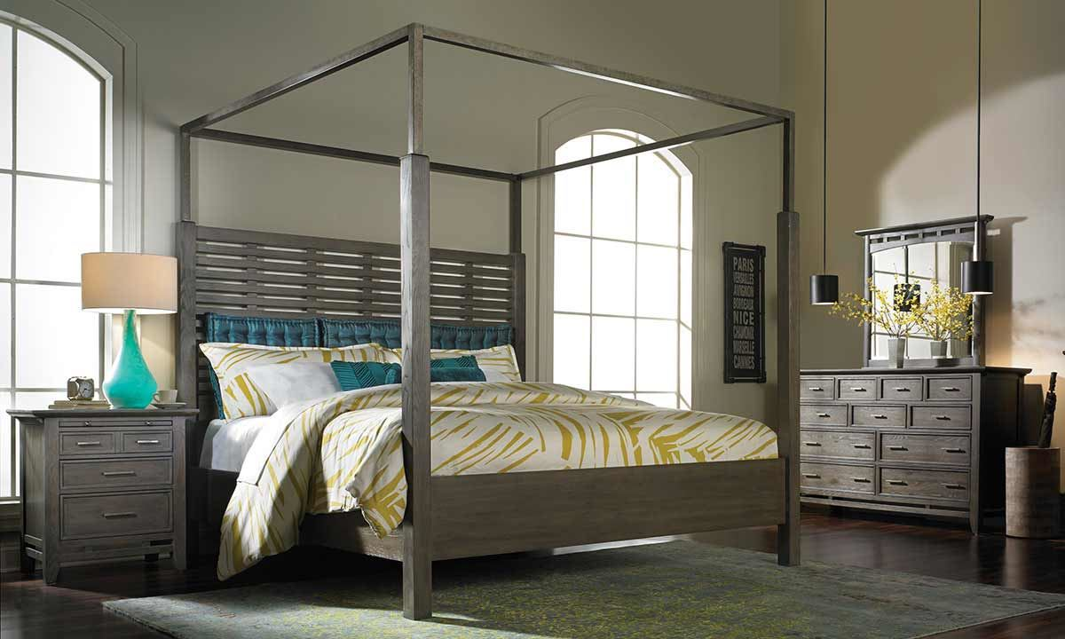 SoHo Loft Queen Canopy Bed Haynes Furniture Virginias