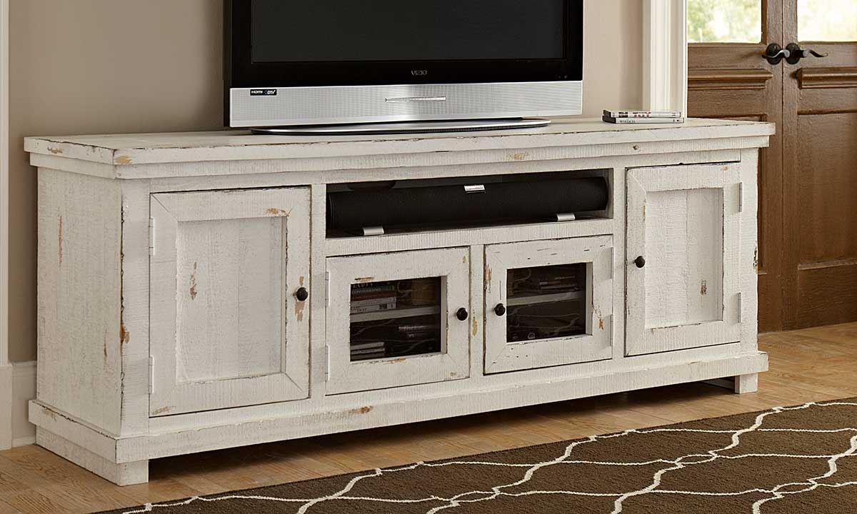 Haynes Furniture White Willow Media Console 74