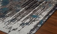 Modern Greys Collection Area Rugs: Teal