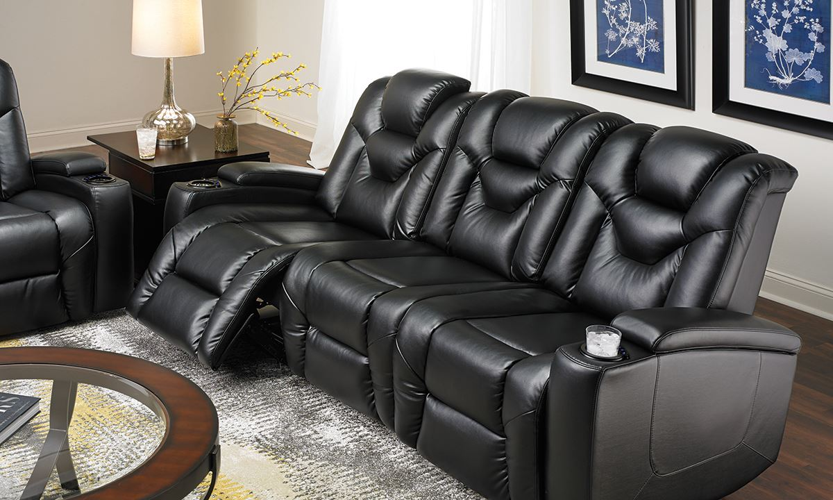 parker sofa and loveseat gray leather sleeper power recliner | home decor