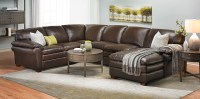 Haynes Furniture. Winfield Leather Sectional Sofa