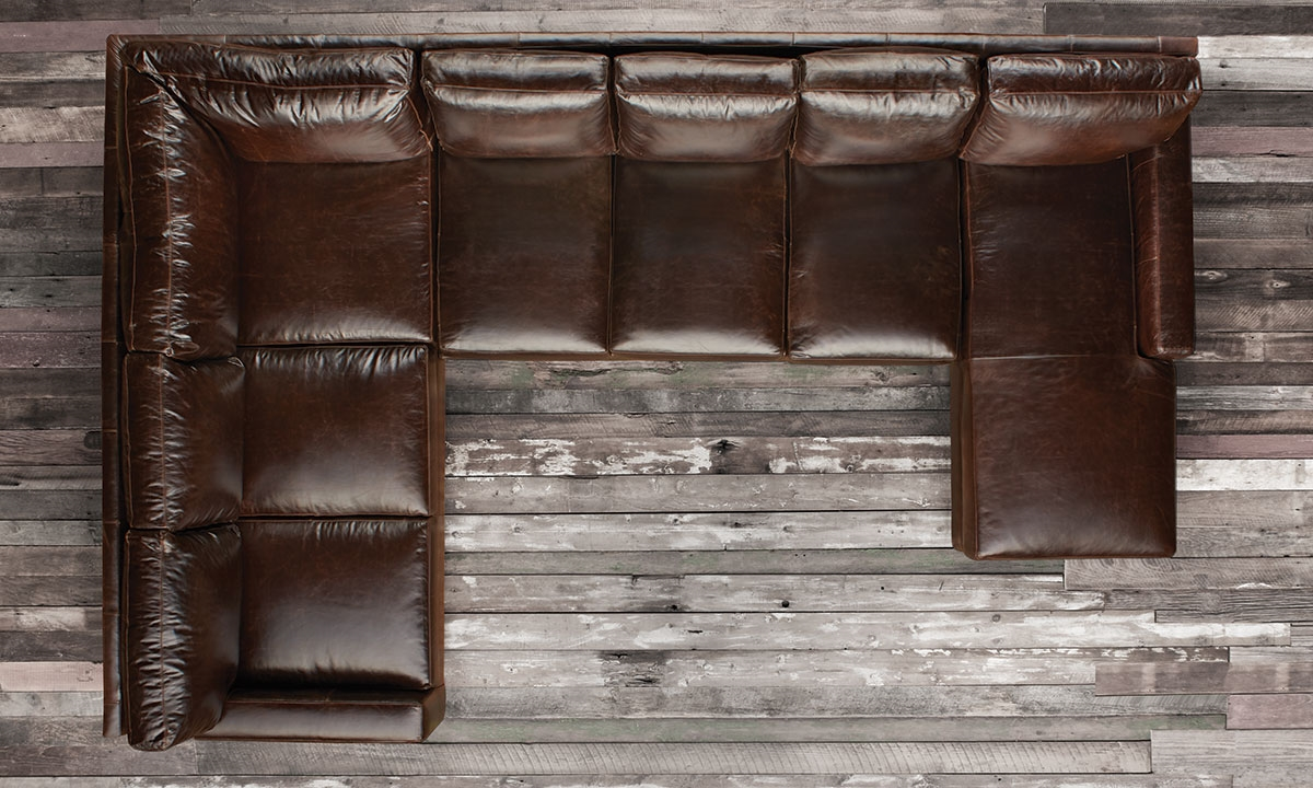 Haynes Furniture Mayfair Deluxe Brompton Leather Sectional