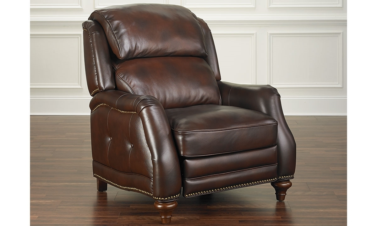 Haynes Furniture Leather English Roll Arm Pushback Recliner