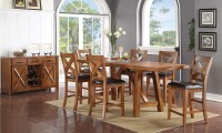 Haynes Furniture. Burnished Mango Counter Height Dining Set