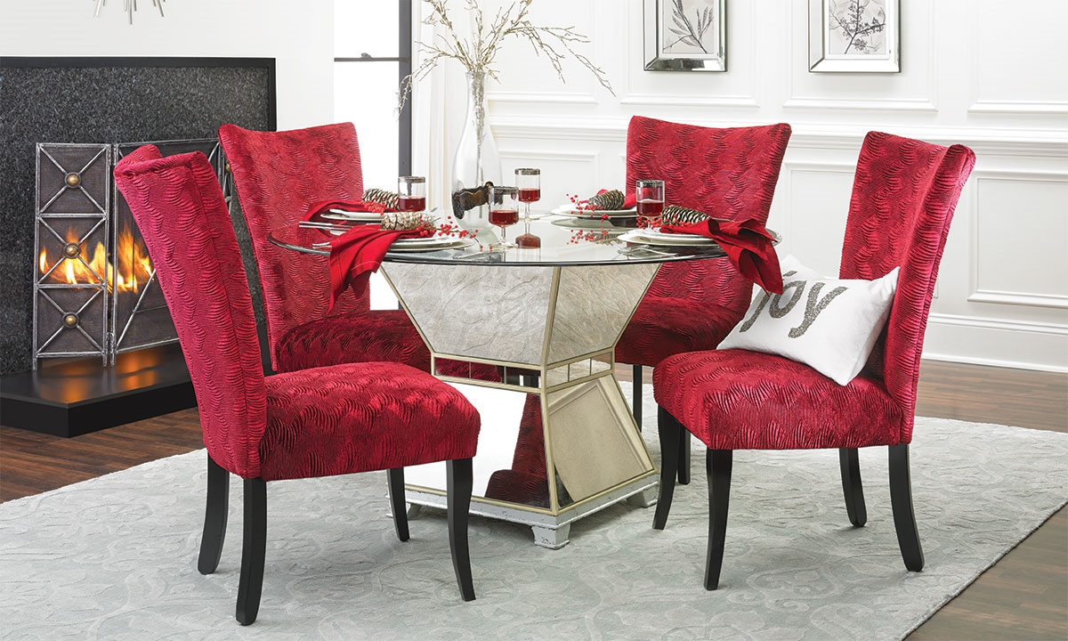Red Lounge Chair Cushions