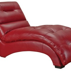 Red Chaise Lounge Chair Swivel Origin 66 Inch Haynes Furniture Picture Of In