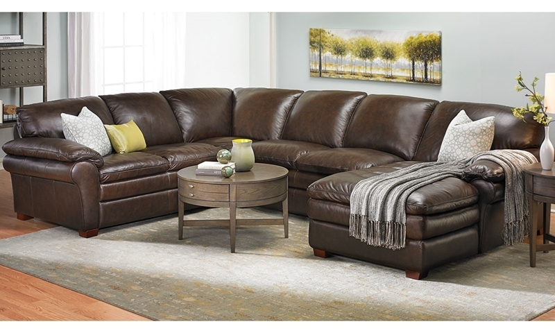 TopGrain Leather Chaise Sectional  Haynes Furniture