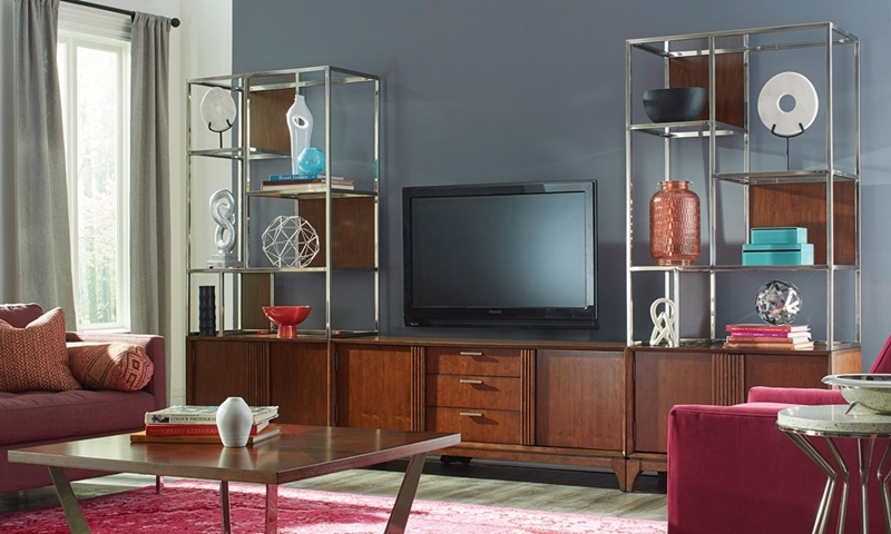 contemporary wall cabinets living room cheap furniture sets under 300 klaussner simply urban 3 piece unit haynes cherry wood with 62 inch entertainment