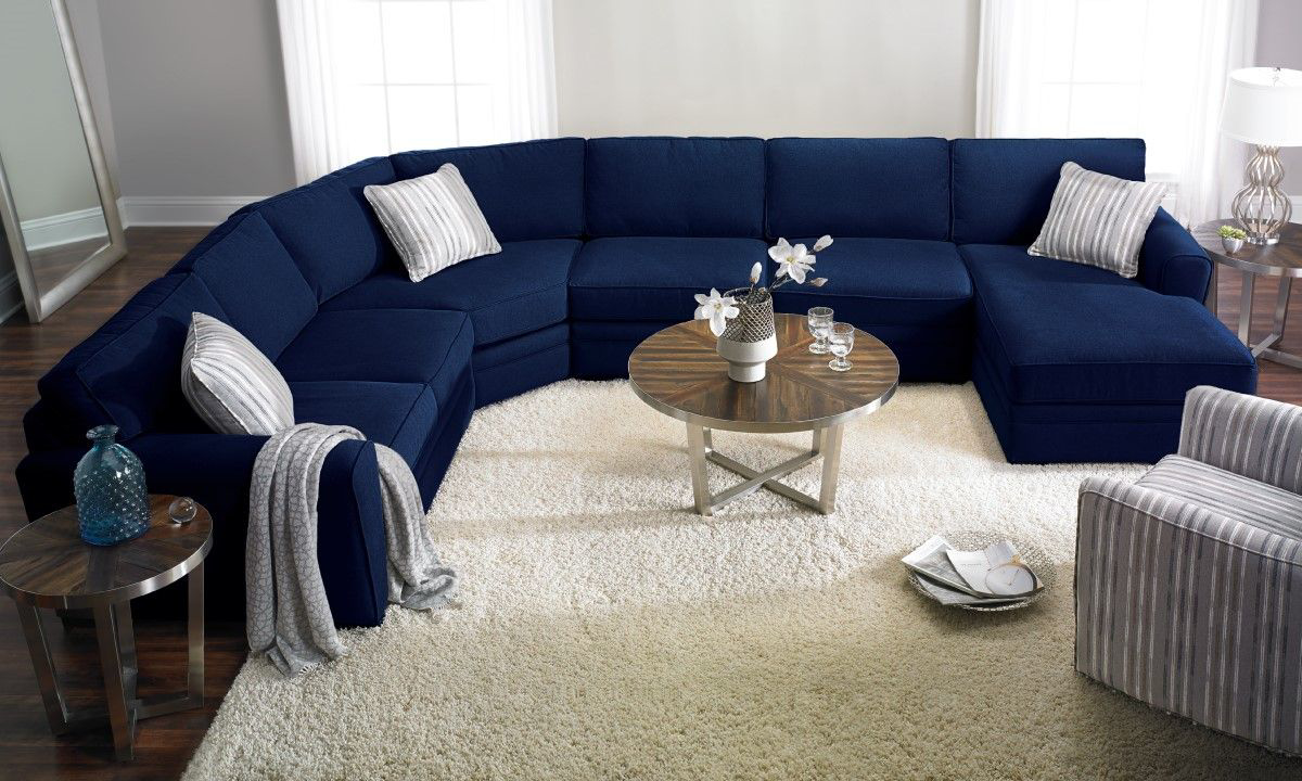 artemis peyton navy sectional with right facing chaise