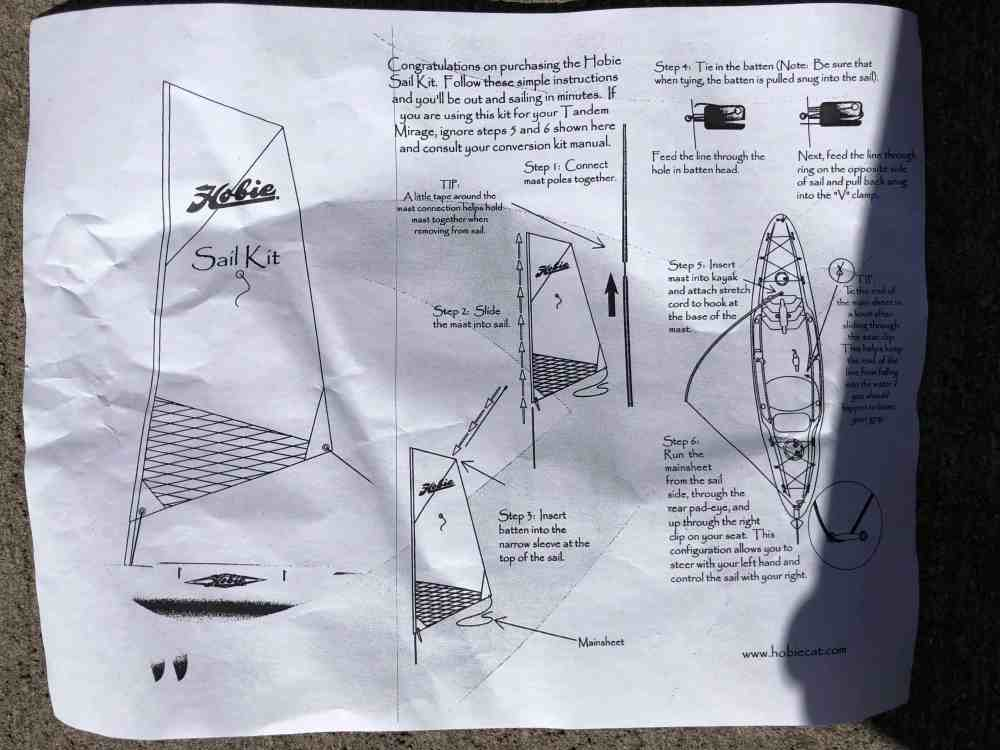 medium resolution of outfitting hobie kayak sail kit