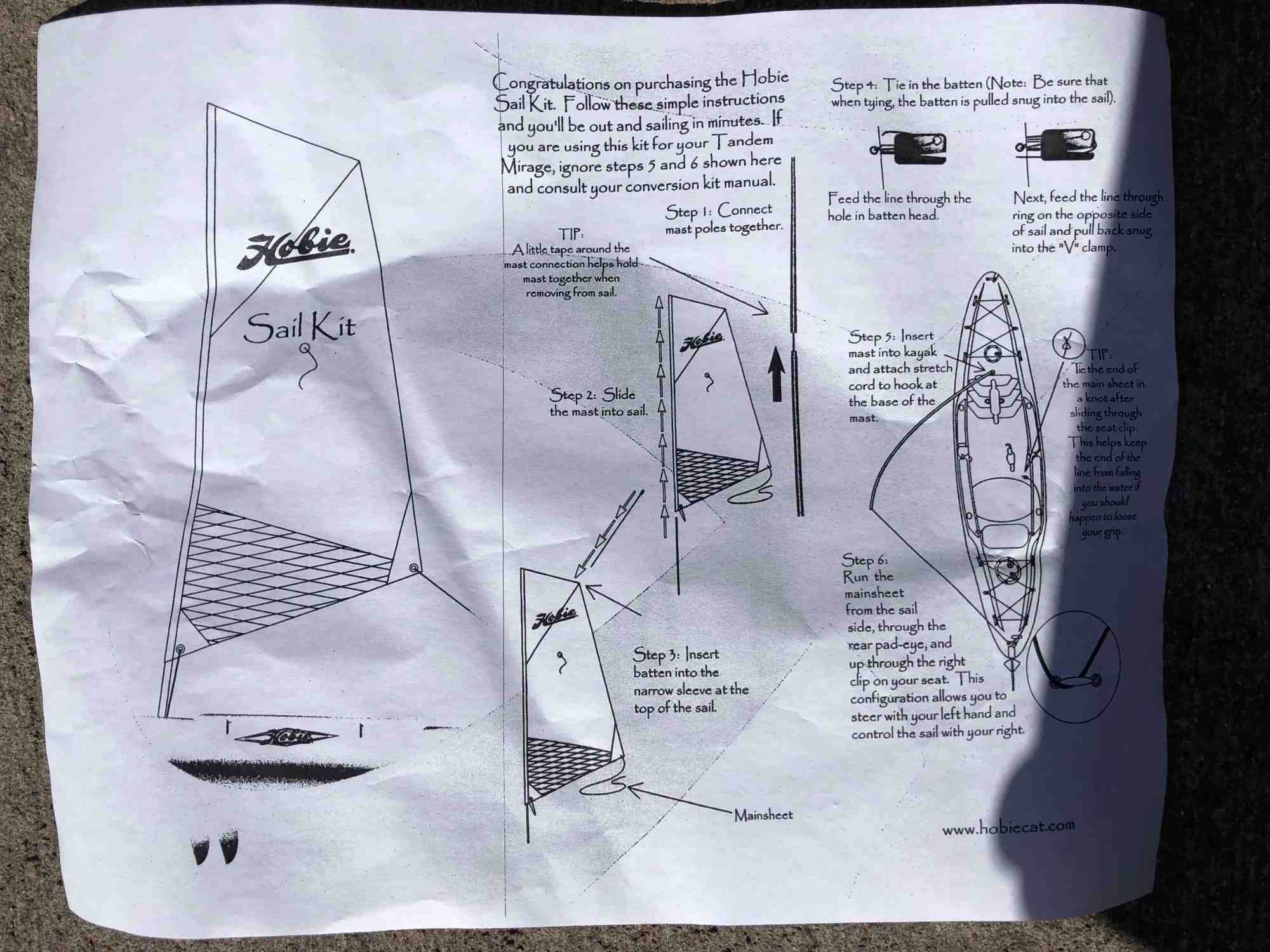 hight resolution of outfitting hobie kayak sail kit