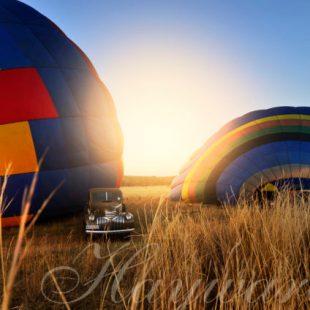hot air ballooning at dawn when on safari