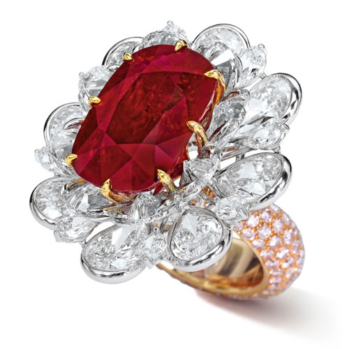 A Spectacular Ruby and Diamond Ring