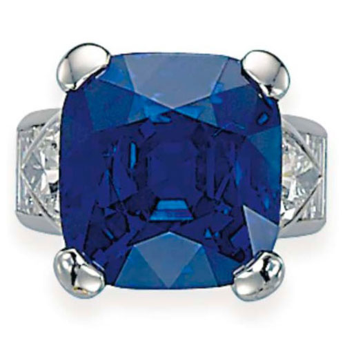 Exceptional Sapphire and Diamond ring