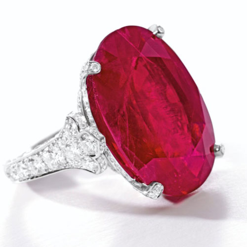 Ruby and Diamond Cartier Ring