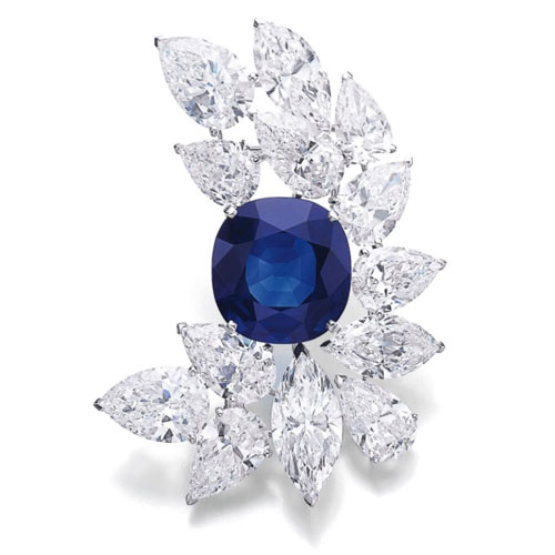 Sapphire and Diamond Cartier Brooch