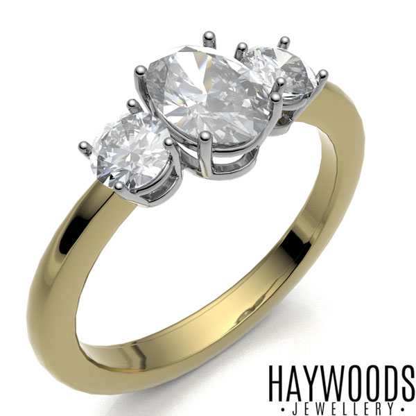 Yellow Gold Diamond Trilogy Ring