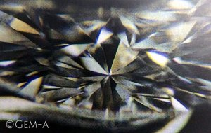 Single refraction as seen in a Diamond