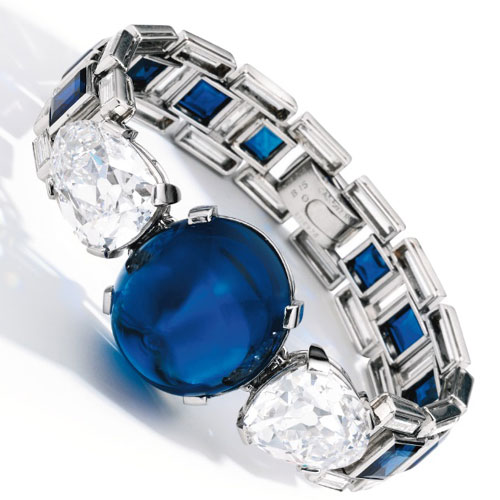 Sapphire and Diamond Bracelet by Cartier
