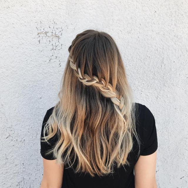 I went with an easy lace braid for eclipse day!hellip