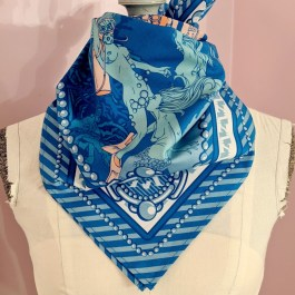 Scarf: Pearl Divers Blue