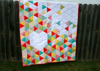 Triangle Heart Quilt