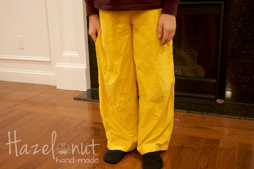 Yellow Baggy Pants
