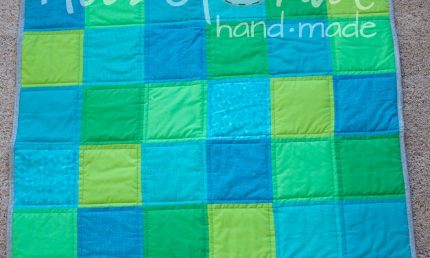Last Minute Patchwork Baby Quilt