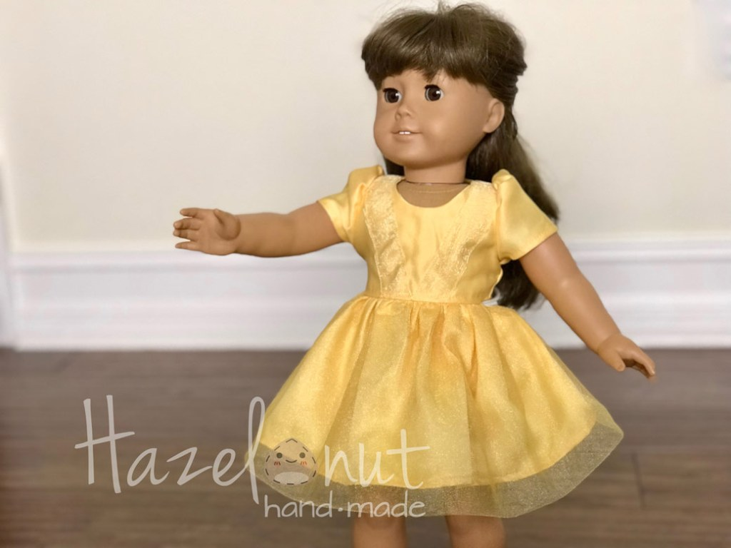 Belle Doll Dress By Hazelnut Handmade