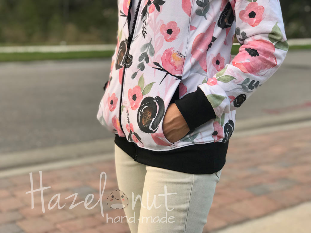 Knit Floral Bomber Jacket Hack