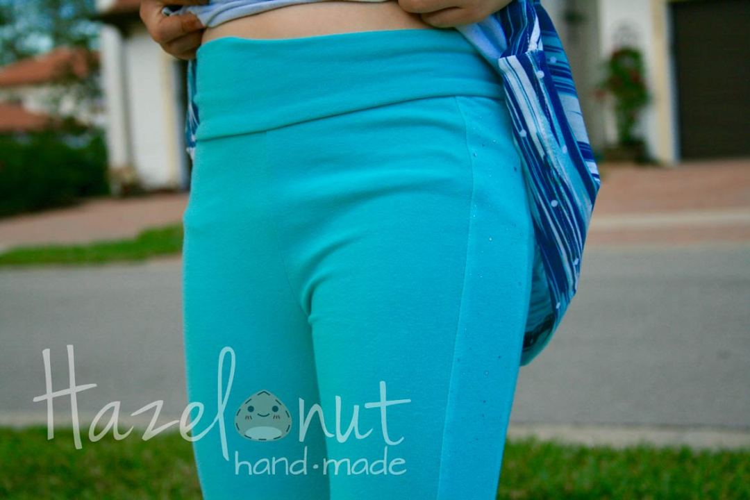 Peony Leggings Update by Hazelnut Handmade
