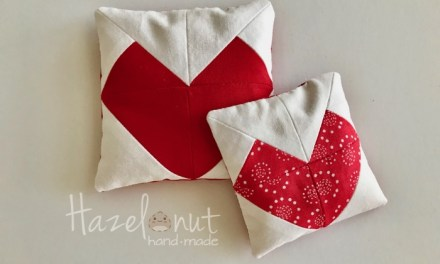 Quilted Valentine Heart Bean Bag