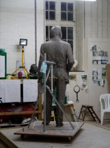 Gresley statue, adding the jacket and trousers