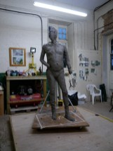 Gresley statue - work-in-progress