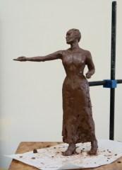 Emmeline Pankhurst maquette - sculpture by Hazel Reeves
