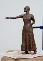 Emmeline Pankhurst - sculpture by Hazel Reeves